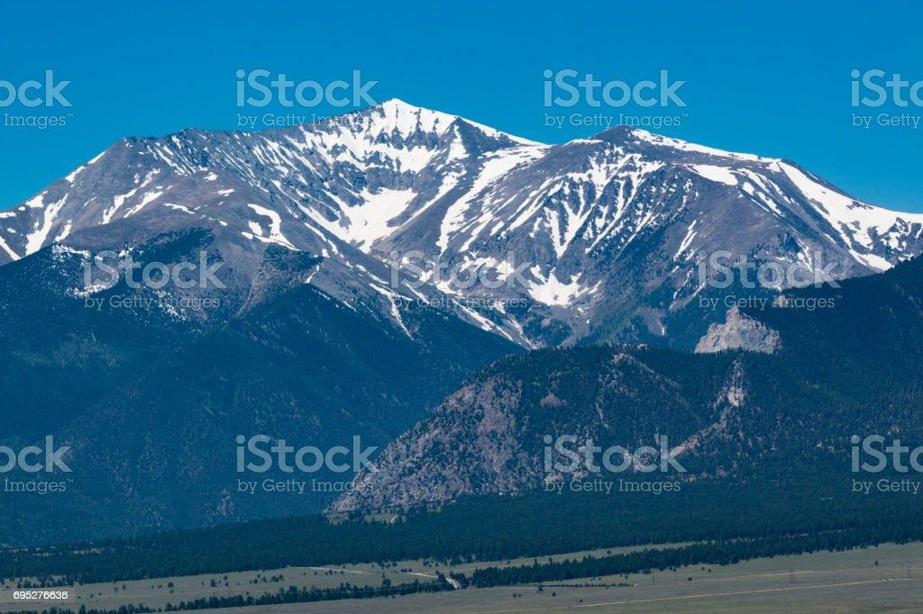 Collegiate Peaks in Summer stock photo