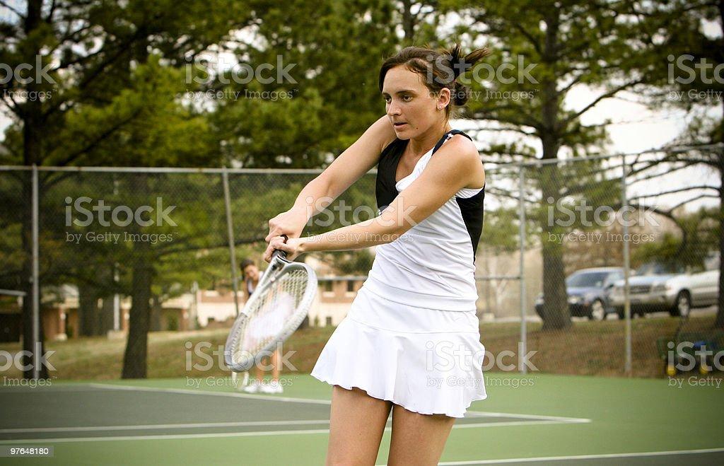 Collegiate Tennis Portraits royalty-free stock photo
