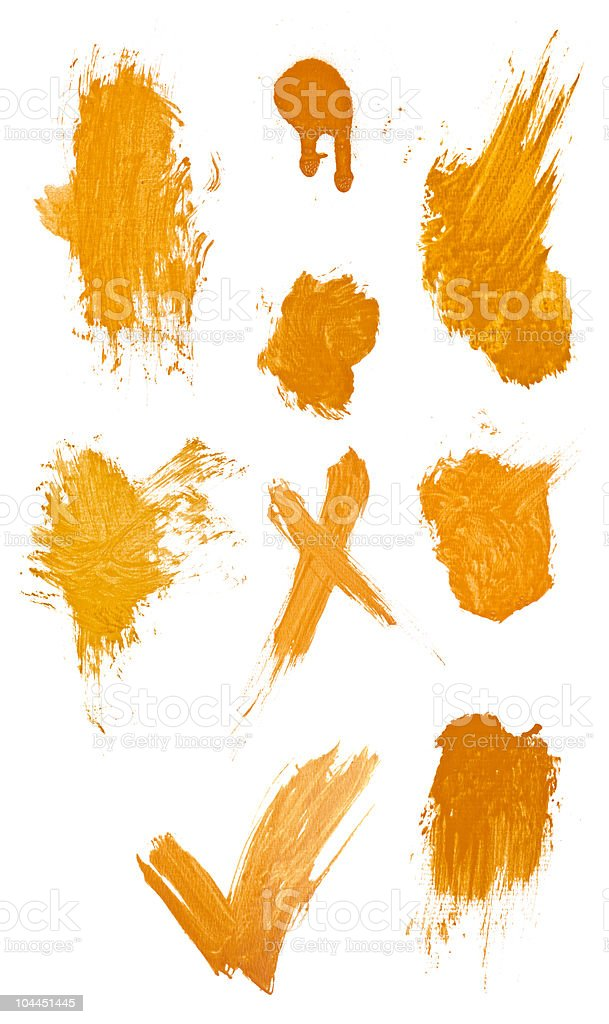 Collegtion of grungy paint strokes. royalty-free stock photo