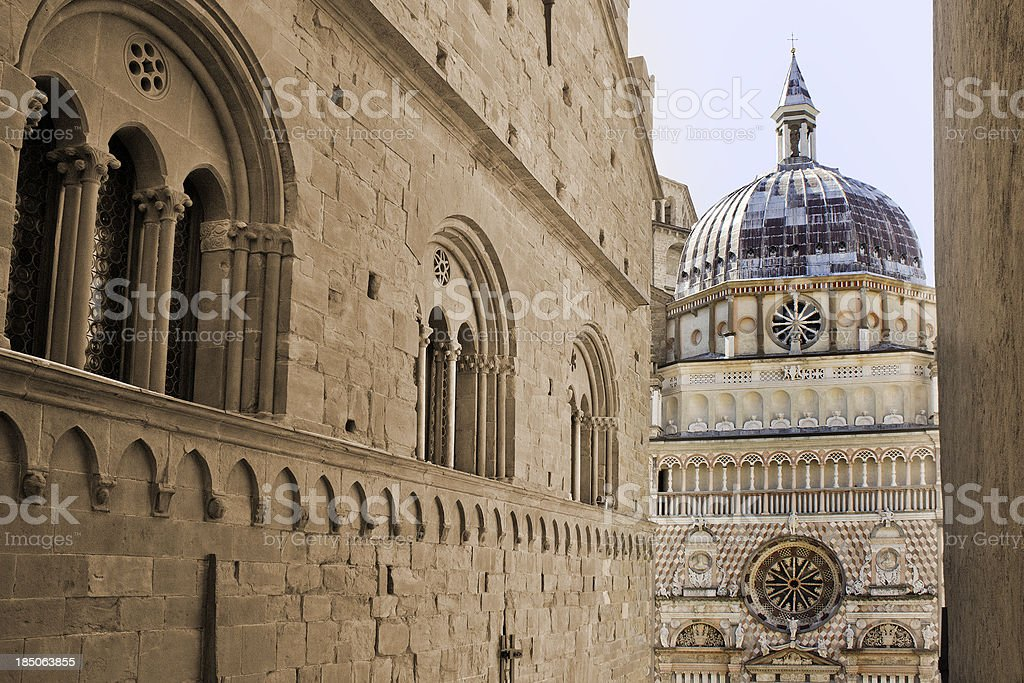 Cappella Colleoni, Bergamo Alta stock photo