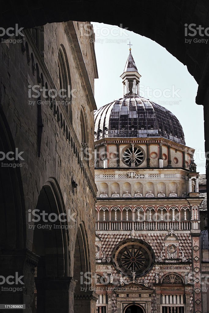 Cappella Colleoni, Bergamo stock photo