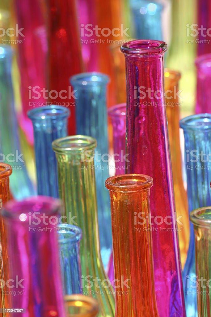 Collered glass closeup stock photo