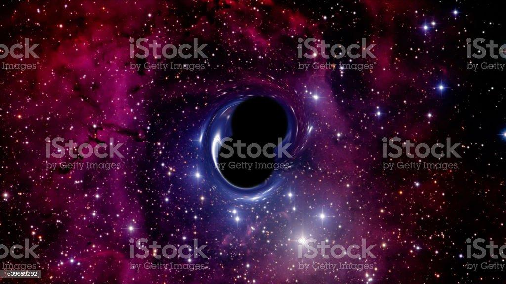 Colliding binary black hole system stock photo