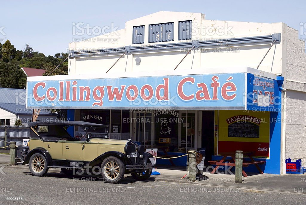 Collingwood Cafe, Golden Bay, Tasman Region, New Zealand royalty-free stock photo