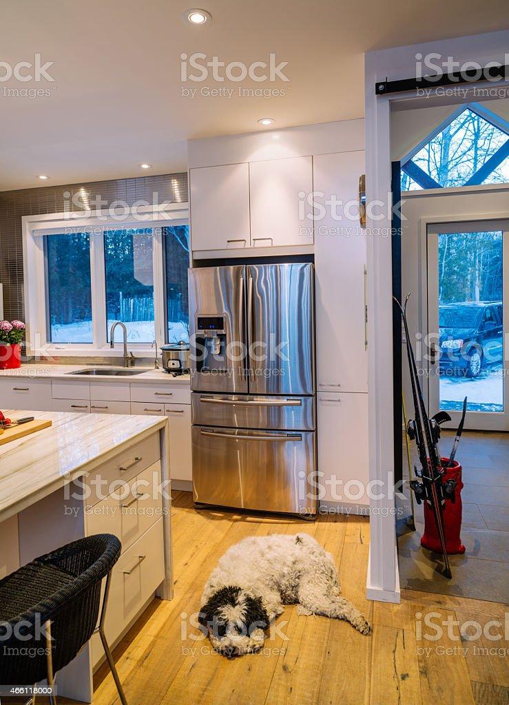 Collingwood Cottage Kitchen Interior stock photo