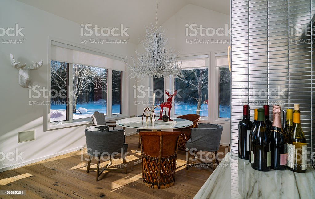 Collingwood Cottage Open Concept Dinning room stock photo