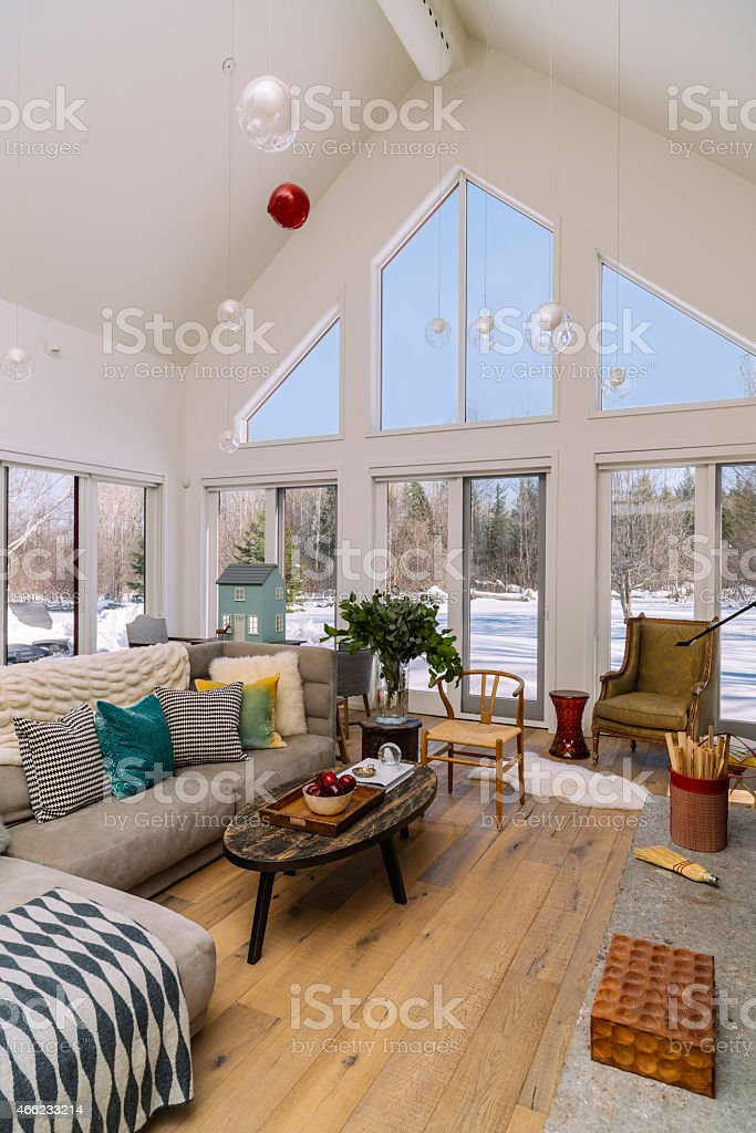 Collingwood Cottage Open Concept Interior stock photo
