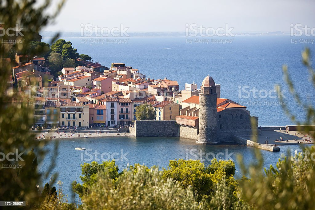 Collioure Roussillon stock photo