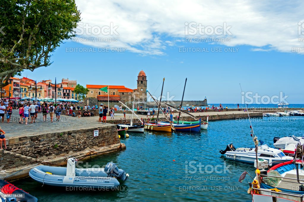 Collioure, Southern France stock photo