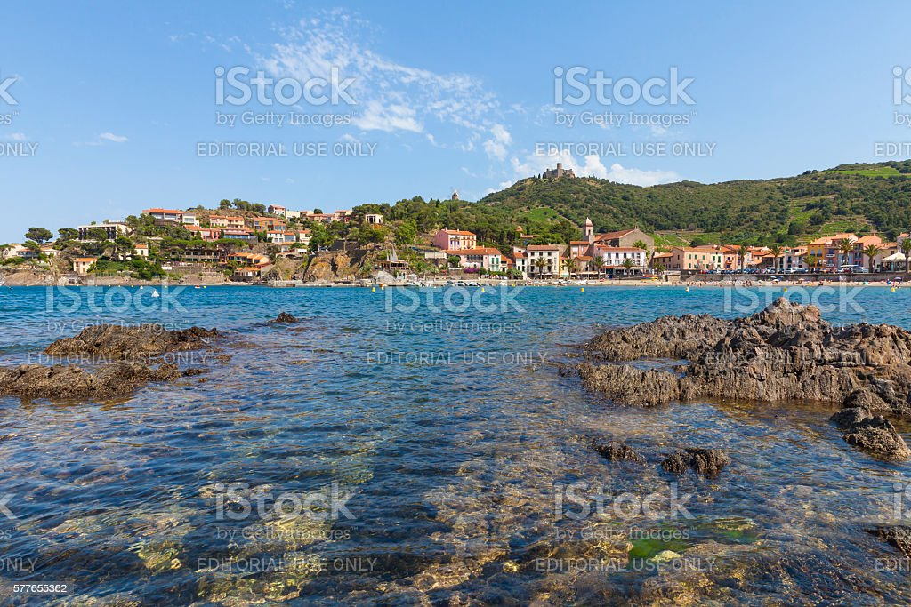 Collioure, France stock photo