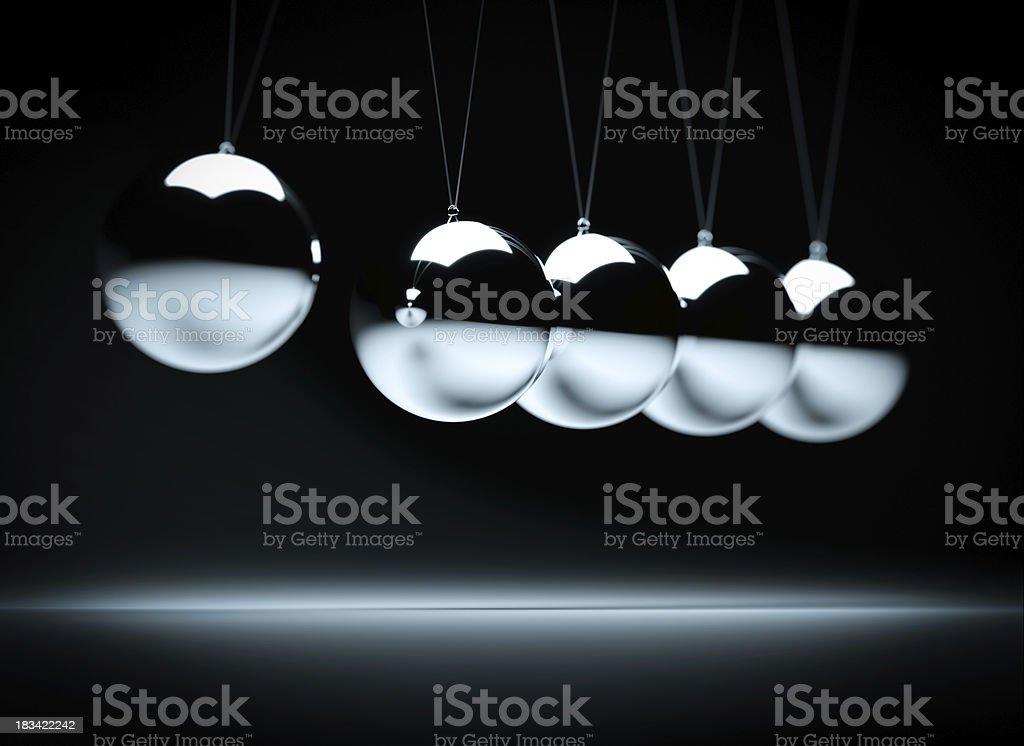 Collision balls stock photo