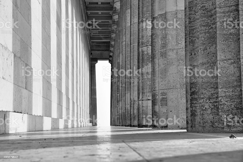 collonade at the Valhalla, Germany stock photo