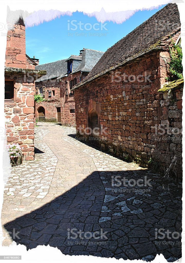 Collonges la rouge stock photo