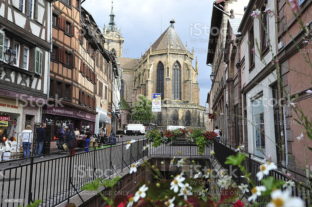 Colmar, Alsace, Saint Martin's Cathedral stock photo