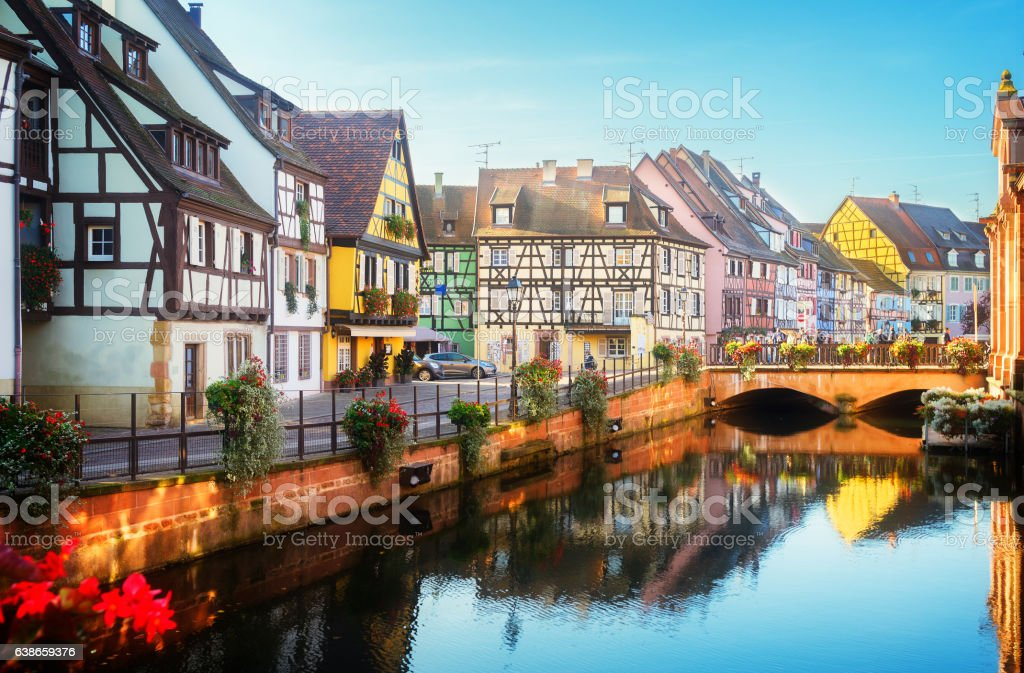 Colmar, beautiful town of Alsace, France stock photo