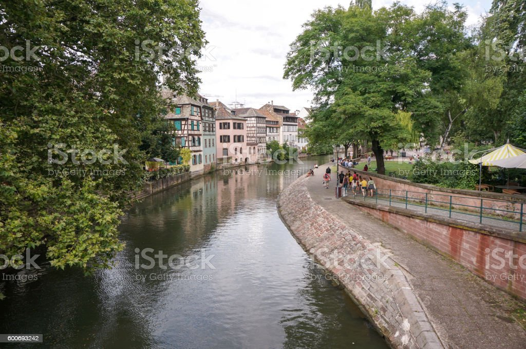 colmar canal stock photo