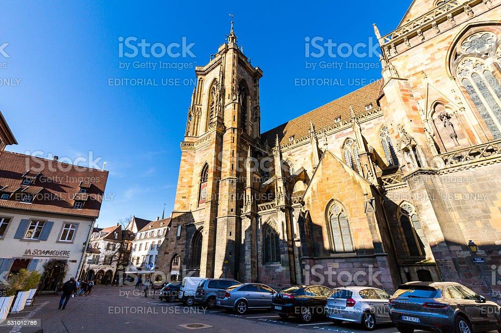 Colmar city in region Alsace in France stock photo