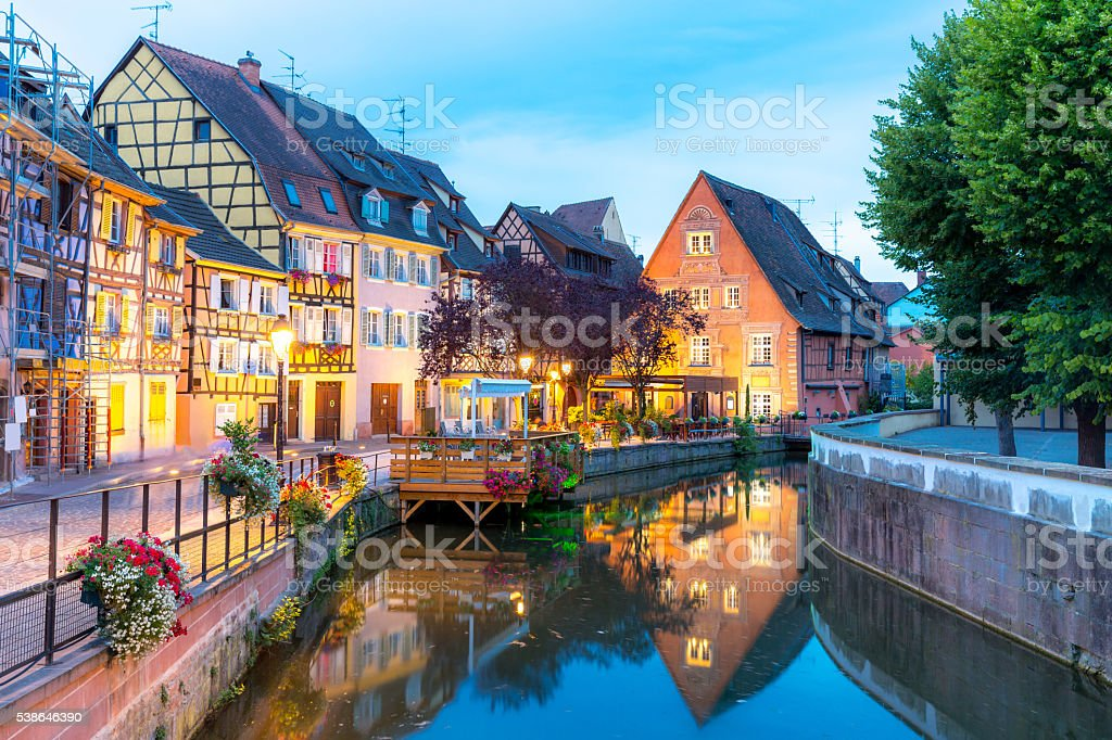 Colmar France Night stock photo