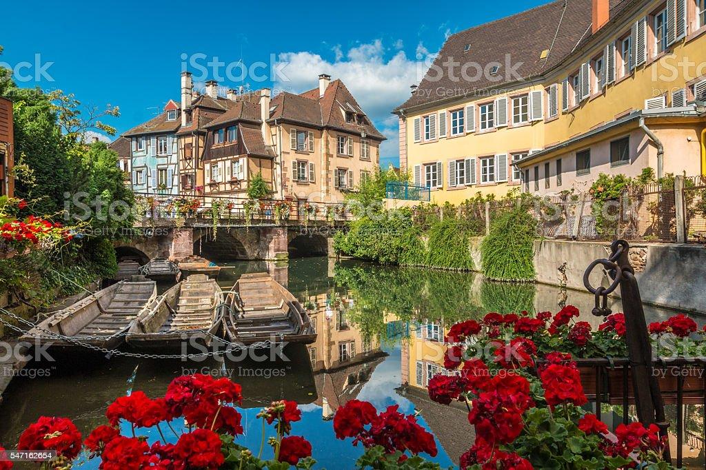 Colmar in Alsace France stock photo