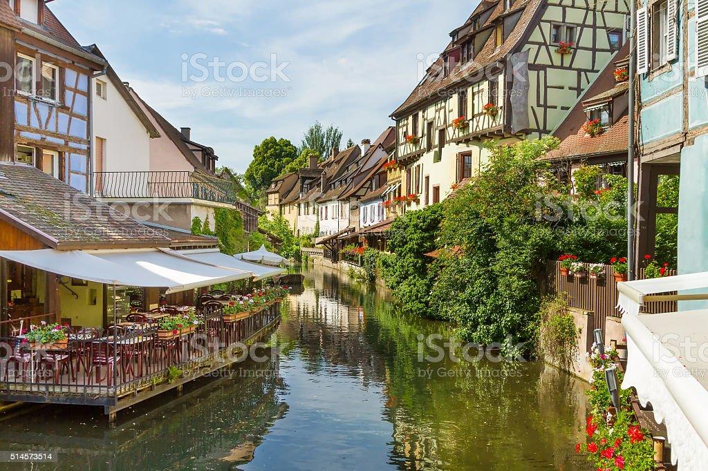 Colmar, Petit Venice, Alsace, France. stock photo