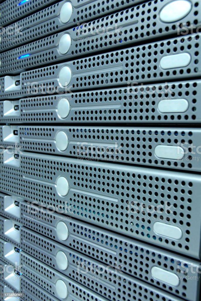Colocation Server Rack royalty-free stock photo