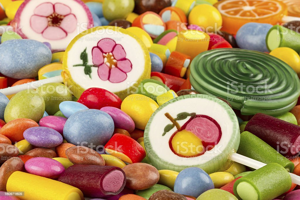 coloful candy stock photo