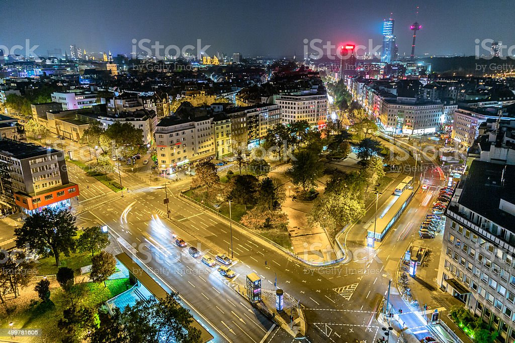 Cologne in Night stock photo