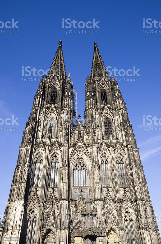 Cologne Cathedral aginst Blue Sky stock photo