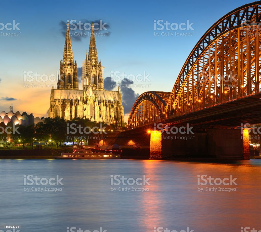 Cologne Cathedral At Sunset (XXXL) stock photo