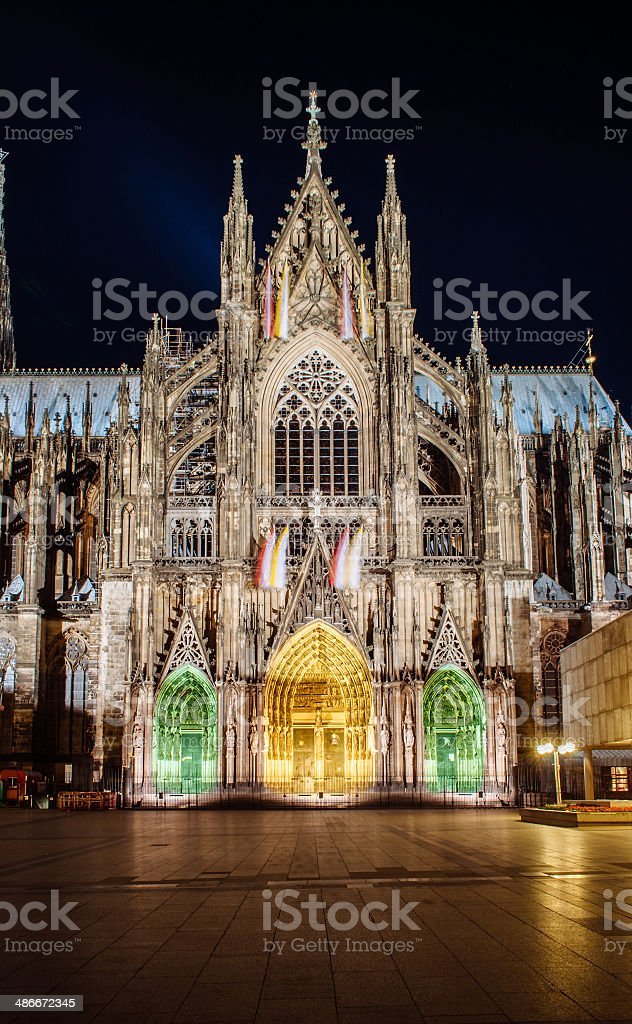 Cologne Cathedral facade and all its splendour stock photo
