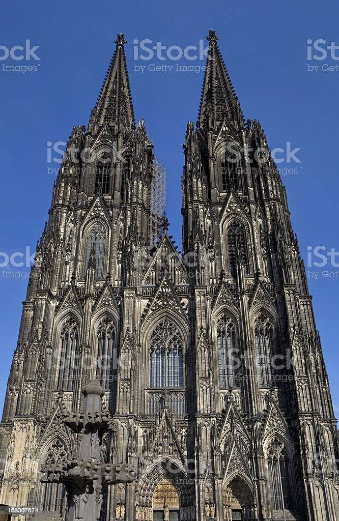 Cologne Cathedral Front Panorama stock photo