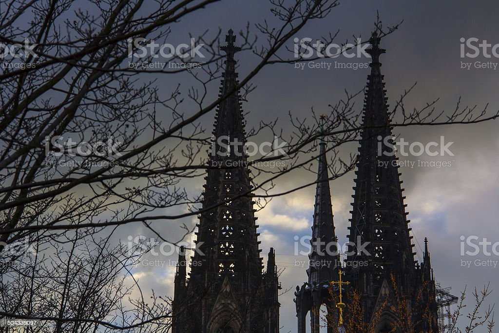 Cologne Cathedral steeple stock photo