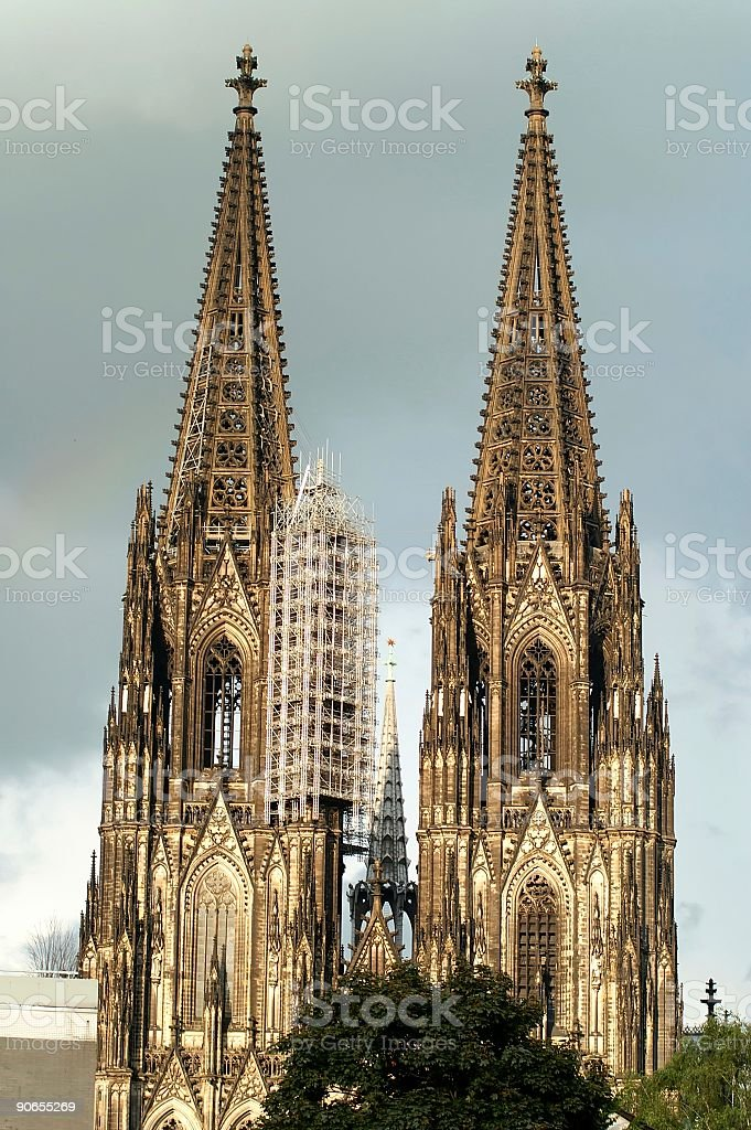 Cologne cathedral - two towers stock photo