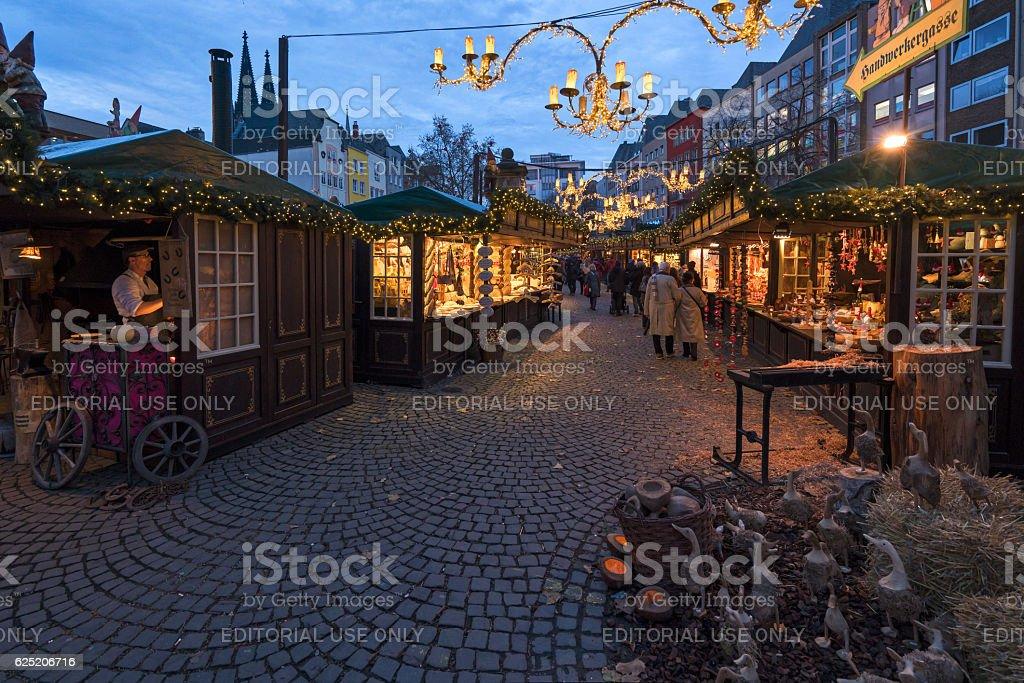 Cologne Christmas market stock photo