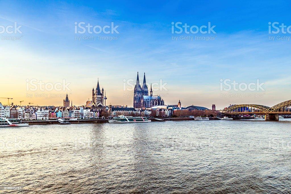 Cologne city line stock photo
