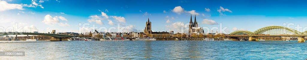 Cologne city panorama stock photo