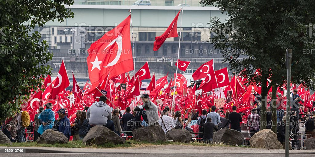 Köln Demo Türkei Erdogan 31-07-2016 stock photo
