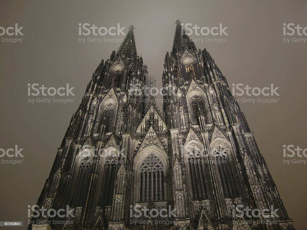 Cologne Dome by night stock photo