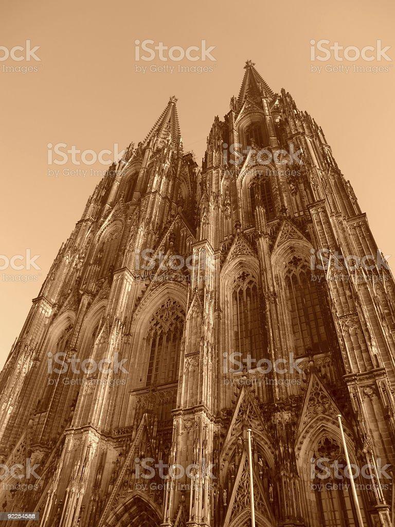 RETRO Cologne Dome - Sepia stock photo
