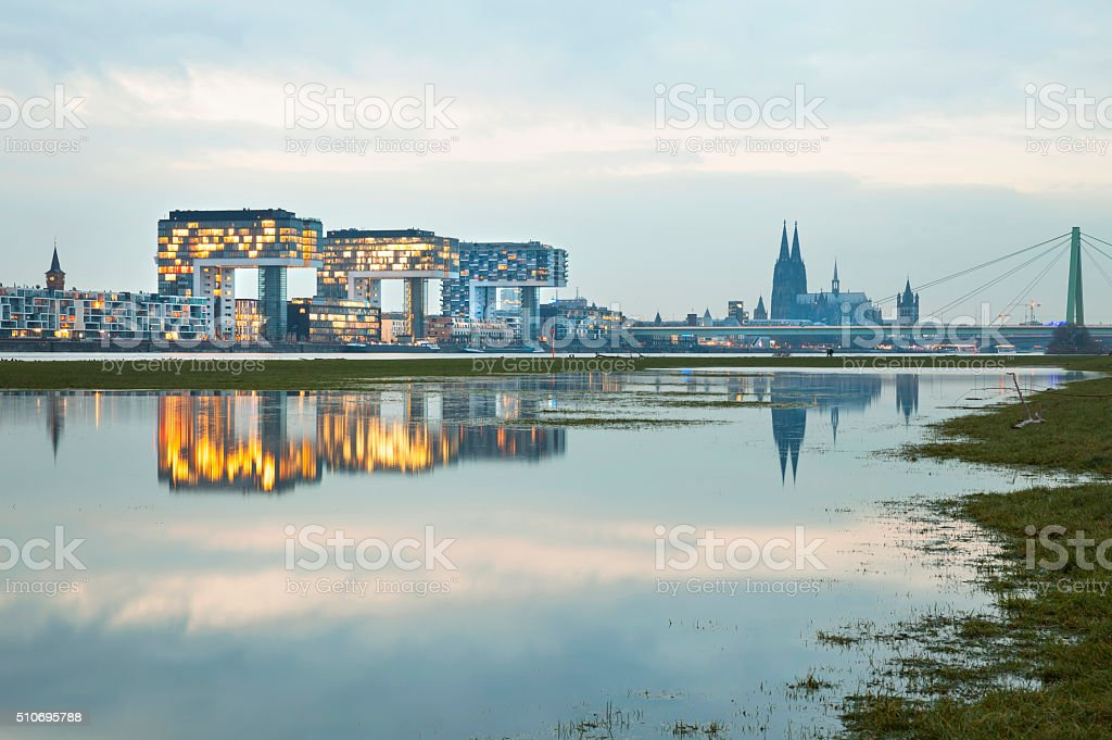 Cologne, Germany, Rheinau Harbor stock photo