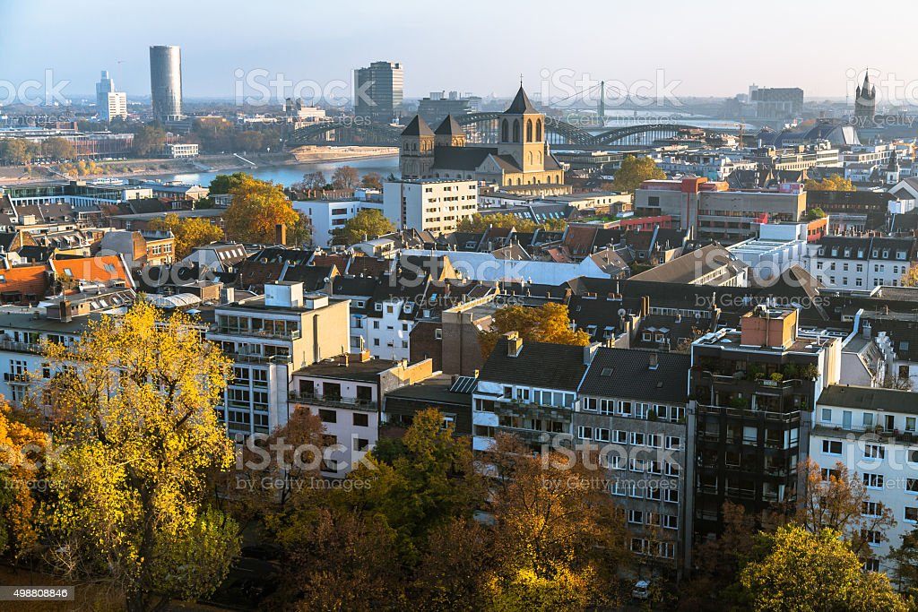 Cologne in the Morning stock photo
