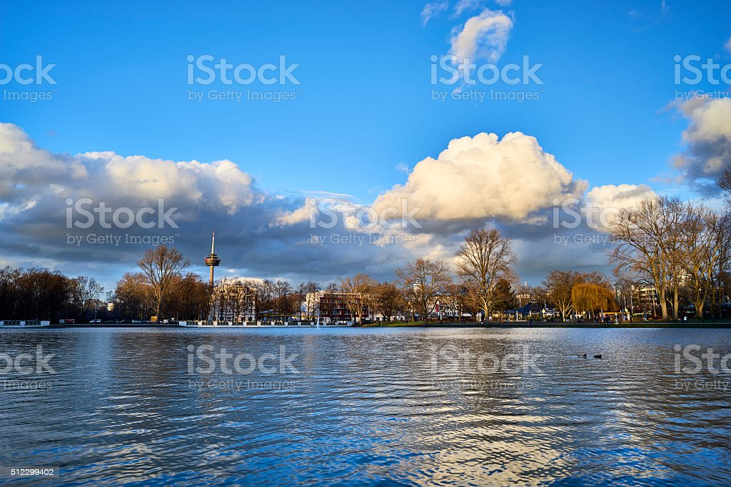 Cologne - panorama of city center royalty-free stock photo
