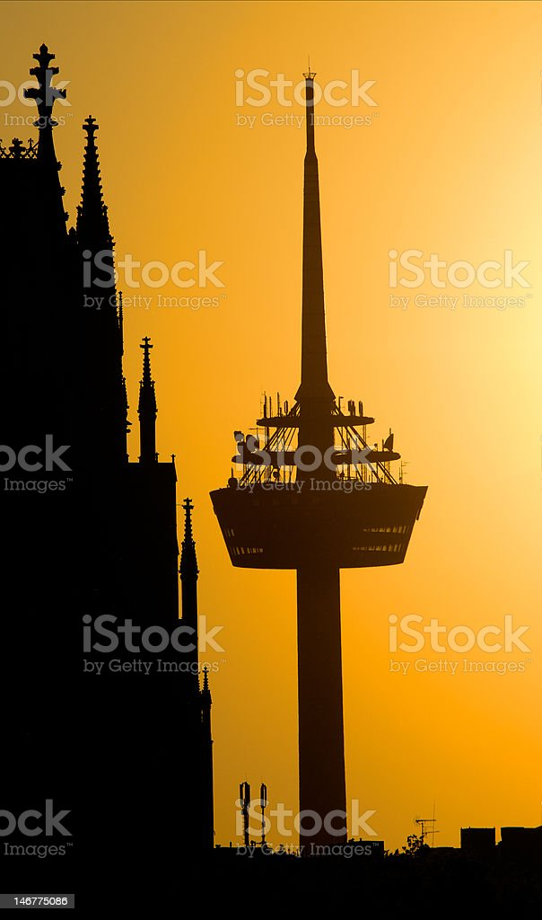 Cologne, Radio tower and dom royalty-free stock photo