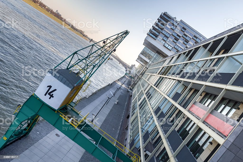 cologne rheinauhafen stock photo