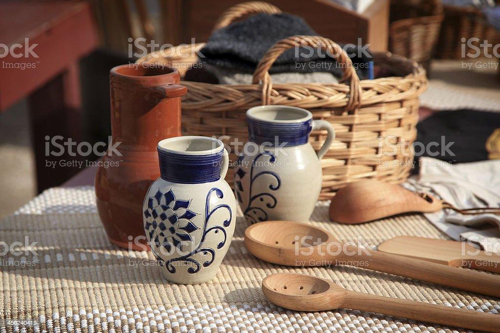 Coloinial Pottery royalty-free stock photo