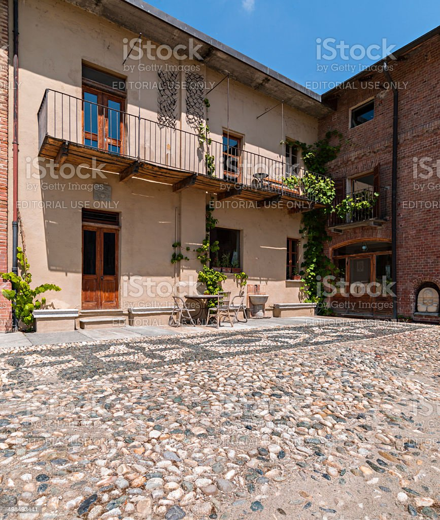'Colombara' farm. Livorno Ferraris, Piedmont, Italy stock photo