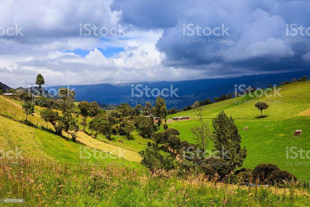 Colombia - pristine rural facet of the Andes Mountains stock photo