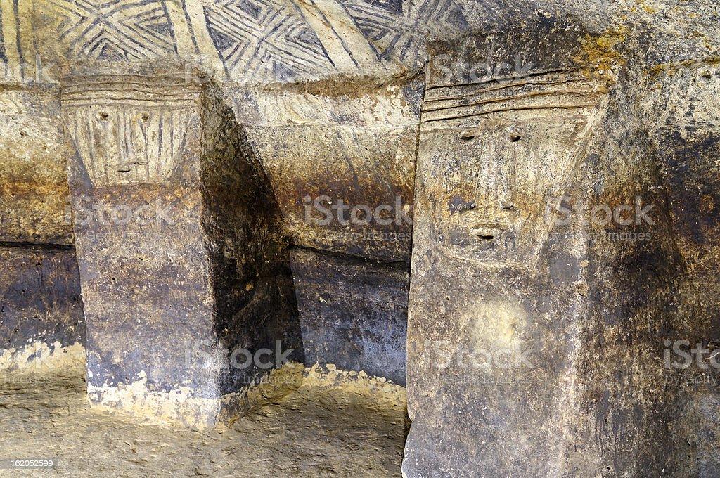 Colombia, Ancient tomb in Tierradentro stock photo
