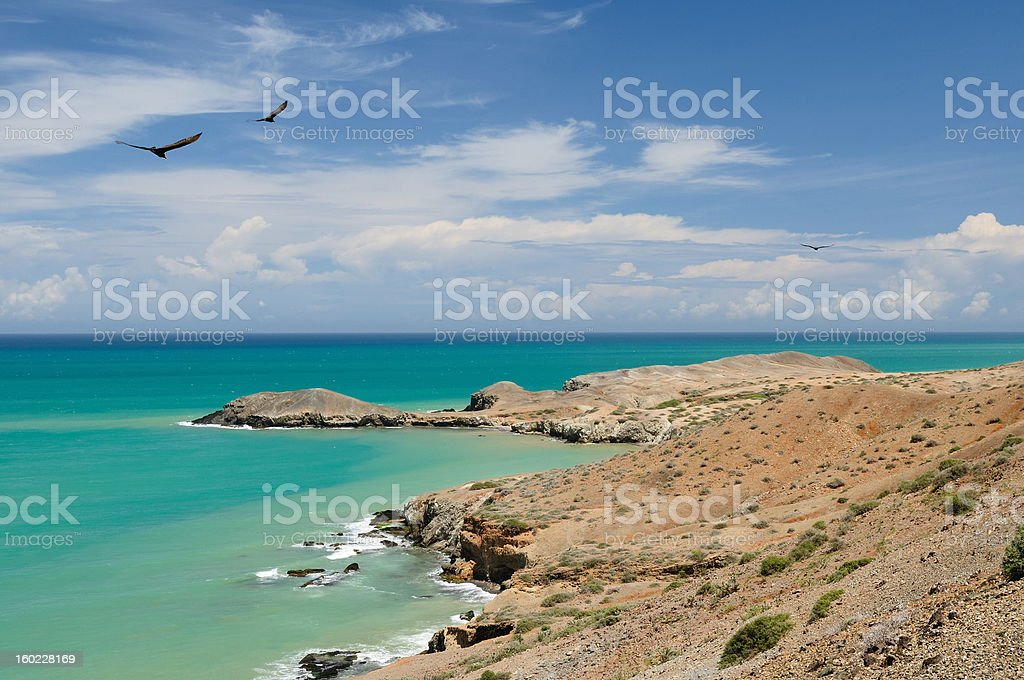 Colombia, beach in La Guajira royalty-free stock photo