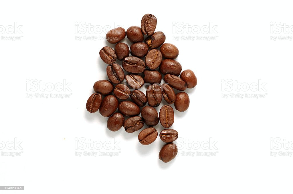 Colombia Coffee Beans royalty-free stock photo